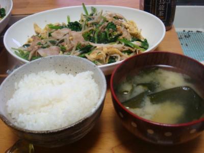 夫作野菜炒め