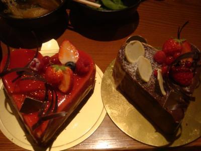 頂いたケーキ