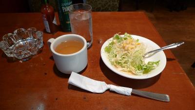 COFFEE STATION PLACE ナポリタンのセットのサラダ