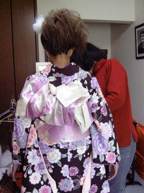 二尺袖茶帯