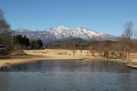 日光だいや川公園の冬
