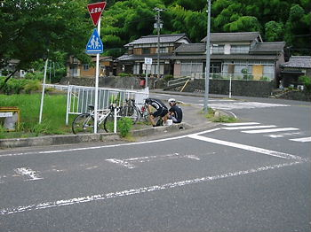 大宮町明田で休憩