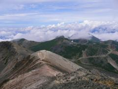 乗鞍岳から下界を望む