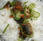 鰯の甘露煮・ネギ