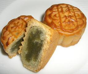 中国月餅抹茶