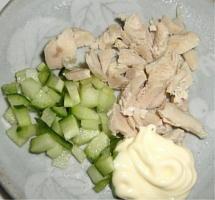鶏肉。きゅうり