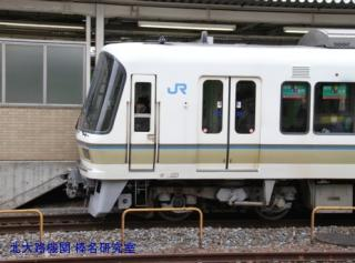 京都駅鶯色と若草色 1