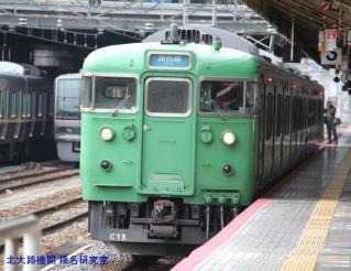 京都駅鶯色と若草色 4
