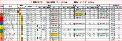 阪神2R馬柱
