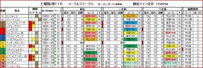 阪神11R馬柱