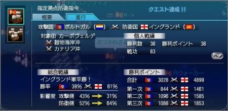 第18回カーボ沖海戦3日目結果