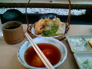 天ぷらととろろ。