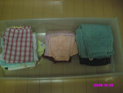 娘の衣装ケース 整理後
