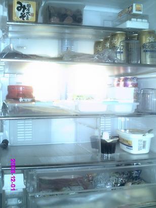 冷蔵庫掃除終了