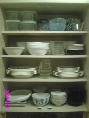 食器棚上段 整理後