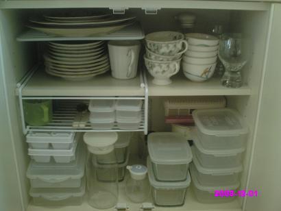 食器棚下段 整理前