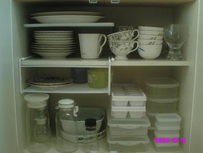 食器棚下段 整理後
