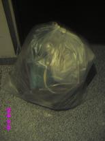 掃除後のゴミ