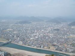 岐阜城より西