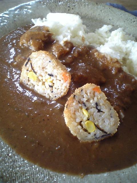 玄米コロッケカレー