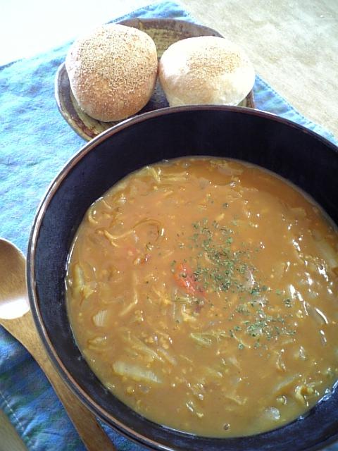 白菜カレースープ