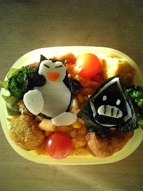 ジンペーのポケモン弁当カビゴンとユキワラシ