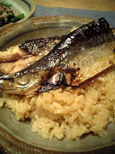 焼き秋刀魚ご飯