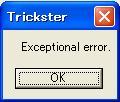 Exceptional error.