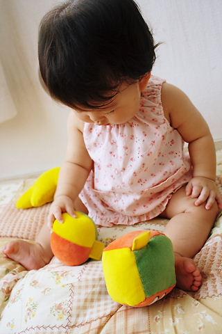 おもちゃで遊ぶcoco