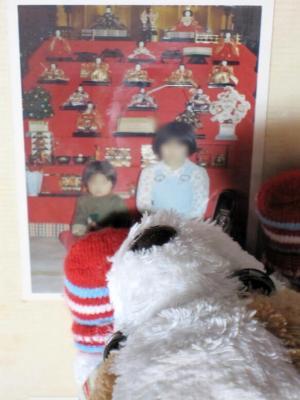 ひな人形の懐かしい写真