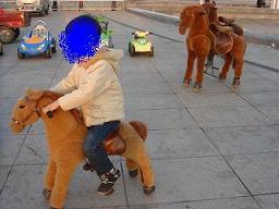 足こぎ馬1