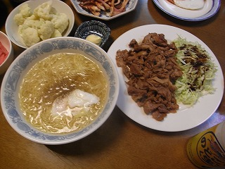 10月31日 生姜焼き&塩ラーメン