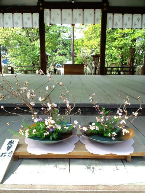3月囀市の生け花