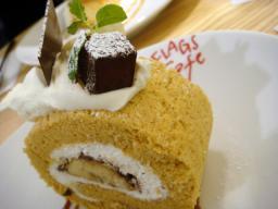 東京 大田区 蒲田 グランディオ FLAGS CAFE フラッグスカフェ キャラメルロールバナナケーキ