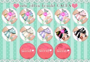 H+K_cutie ribbon bracelet gacha