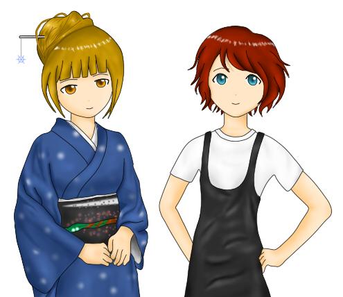 萩原美雪と天海夏姫