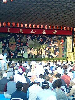 西塩子の回り舞台(茨城県常陸大宮市) 「平成の大幕」披露