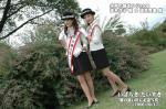 水戸の萩まつり2006 「旅の思い出に記念撮影」 茨木洋子姫と酒井育美姫