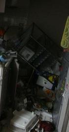 地震後キッチン