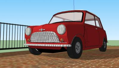 Morris Mini Cooper GoogleSketchUp