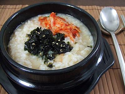 海鮮キムチ粥