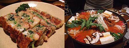 キムチチゲ&海鮮チヂミ