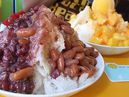 マンゴー冰&あずきミルクかき氷
