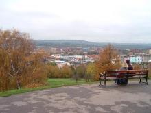 丘からみた景色