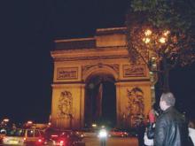 凱旋門の夜景