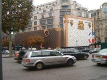 工事中のLouis Vuitton