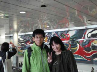 20081118東京渋谷岡本太郎絵ふたり