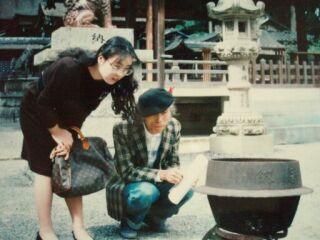 2010直美・父と一緒に神社