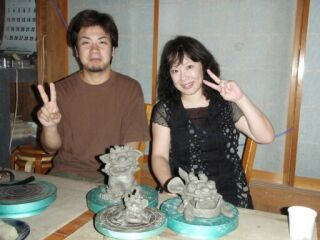 2010直美・シーサー造り先生と作品