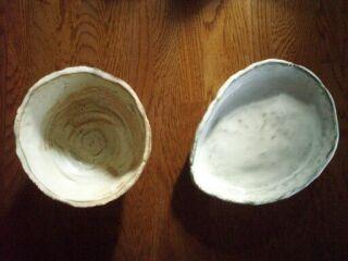 陶の里手作り作品お皿と小鉢
